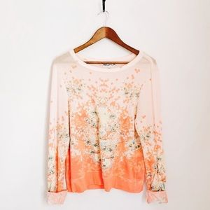 Wildfox Rare Floral Sweater Long Sleeve Size Med